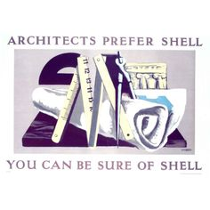 Original Shell Oil poster by Hans Feibusch.  Great Britain.  Dated 1933.  Very rare original Art Deco Shell Oil advertising poster, dated 1930. Linen mounted and unframed.     Provenance: The Shell Archive.