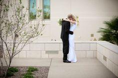 At the Phoenix Temple with Sebra and Landon #phoenixtempleweddings #ldsbride #mormonbride #mormonweddings #mormonweddingdresses
