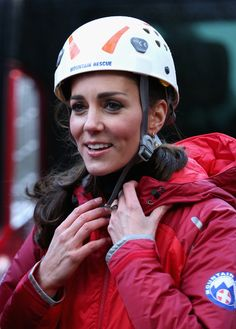Catherine, Duchess of Cambridge prepares to abseil as she visits the Towers Residential Outdoor Education Centre on November 20, 2015 in Capel Curig, United Kingdom. The Towers is an outdoor education centre run by Wolverhampton Council providing adventure activities for children.