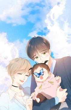 Anime Family, Anime Romance, Romantic Anime, Cute Anime Character, Animation Art, Anime Characters, Anime Artwork, Fantasy Art Couples, Chibi Drawings