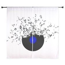 Music Disc Vinyl Curtains by Adrianne_Desire - CafePress Curtain Designs, Shower Curtains, Tapestry, Music, Color, Home Decor, Hanging Tapestry, Colour, Homemade Home Decor