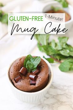 Mint Chocolate Gluten Free Mug Cake! This one minute mint chocolate mug cake is soft, fluffy, decadent, and most importantly packed full of gooey mint chocolate flavor all in one simple and quick gluten free serving! Chocolate Morsels, Chocolate Mug Cakes, Chocolate Flavors, Mint Chocolate, Chocolate Desserts, Chocolate Chips, Gluten Free Mug Cake, Gluten Free Desserts, Delicious Desserts