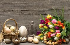 Check out Vintage style easter decoration by LiliGraphie on Creative Market