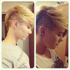 Epic lines, for girls with Mohawks, pixies, short hair etc. hairtattoo