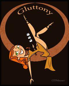 TDI: 7 deadly sins- Gluttony by CITPrincess on DeviantArt Drama Funny, Drama Memes, Seven Deadly Sins Anime, 7 Deadly Sins, O Drama, Total Drama Island, Critical Role Fan Art, Cartoon Profile Pics, Animated Cartoons