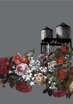 OVERGROWN WATERTOWER - DARK GREY #watertower#newyork