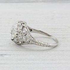 2.03 Carat Vintage Engagement Ring