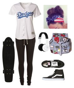 """""""Sin título #205"""" by miksong ❤ liked on Polyvore featuring Rick Owens, Majestic, Nixon and Vans"""
