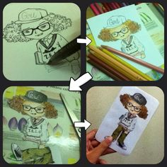 Process in the making of GD bookmark