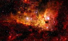 Carina Nebula's region around the unusually hot massive young star WR 22, a member of the rare class of Wolf–Rayet stars.