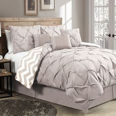 Ella Pinch Pleat 7-pc. Reversible Comforter Set