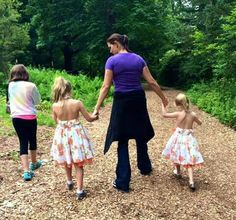 Stephanie with her daughters in tour ar NY Wolf Center