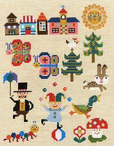 kyoko maruoka 's   cross stitch & needlework designs