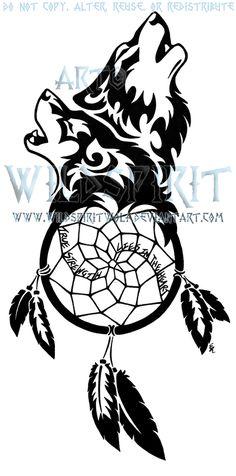 pawprint dreamcatcher tattoo | Lonely Wolf And Moon Tattoo by *WildSpiritWolf on deviantART - FruSki ...