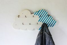 on a cloud coat hook