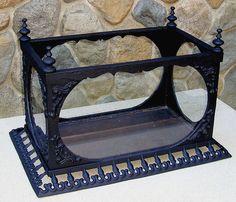 GENUINE VINTAGE ANTIQUE 1860's FISH TANK! VICTORIAN CAST IRON AQUARIUM TERRARIUM   eBay