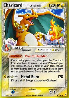 pokemon cards | Pokemon Card of the Day: Charizard (EX Crystal Guardians) | Primetime ...
