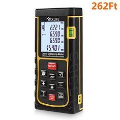 Tacklife LDM05 60m(196feet) Digital Laser Measure Handheld Laser Distance Measure with Mute Function