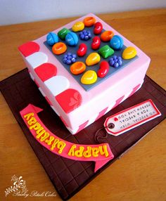 Candy Crush saga themed cake with all fondant decorations.