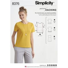8376Sew a Misses knit top YOUR WAY with multiple pattern pieces for design hacking. Summer 2017