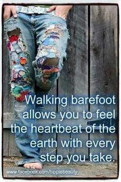☮ American Hippie ☮  Walking Barefoot