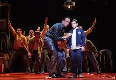 Nick Cordero and Joshua Colley in A Bronx Tale: The Musical. Paper Mill Playhouse. 2016