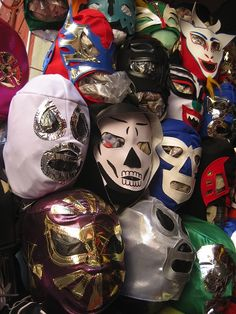 Luchador masks in Mexico City