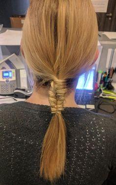 Infinity braid with ponytail, so nice :))