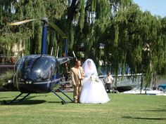 Arriving by helicopter at Stonehaven on Vaal on the banks of the Vaal River! Private Garden, Banks, Baby Strollers, River, Weddings, Baby Prams, Wedding, Strollers, Rivers