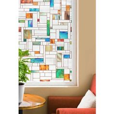 "Artscape 24"" x 36"" Melange Decorative Window Film - Walmart.com"
