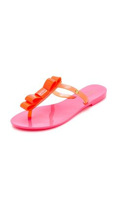 Melissa Women's T Bar Bow Thong Sandals >>> Awesome product. Click the image : Sandals