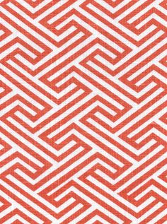 Geo Maze, Coral 100% Linen $29.95 /yd  #fabric