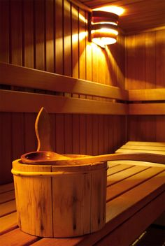 Sitting in a sauna. Thank you Finland, for giving the world saunas.