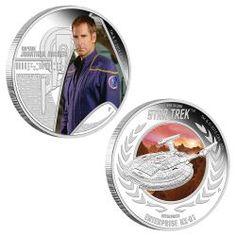 Star Trek: Enterprise - Captain Jonathan Archer & Enterprise NX-01 2015 1oz Silver Proof Two-Coin Set