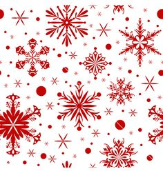 Red christmas seamless background with snowflakes on VectorStock