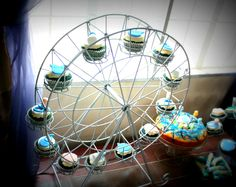 Ferris wheel cupcakes by Designer Sweets