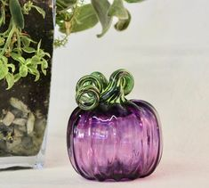 Everything made of Glass Metal Pumpkins, Glass Pumpkins, Dale Chihuly, Art Nouveau, Craft Beer Festival, Purple Pumpkin, Corning Museum Of Glass, Pumpkin Photos, Autumn Display