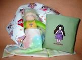 Doll in Fairy Quillow with Waldorf Doll Quillow