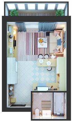 15 Best Studio Apartment Layout that Really Work - futurian