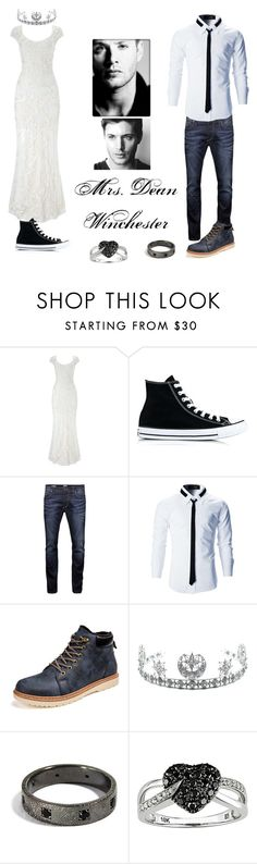 """""""Wedding with Dean       PT 2"""" by spn-dean-pjo-hoo-nico-solangelo ❤ liked on Polyvore featuring Phase Eight, Converse, Jack & Jones, Child Of Wild and Ice"""
