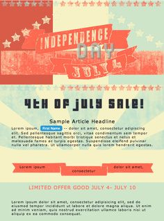 4th of July Email design  jjarrett.com