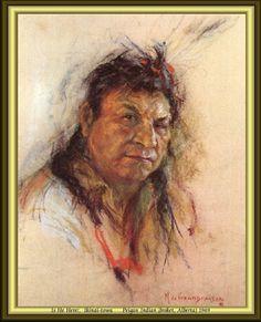Is He Here? Ikinai-towa - Peigan Indian (Brocket, Alberta) 1949 by Nicholas de Grandmaison.
