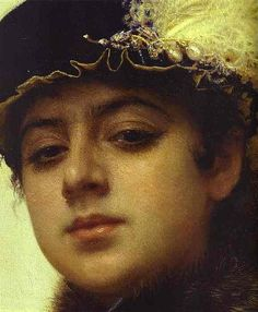 Ivan Nikolaevich Kramskoy - Portrait of a woman, detail