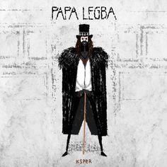 Ilustraciónanimada dePapa Legba, deAmerican Horror Story, Coven.