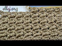 Видео урок: Узор с косыми столбиками. Мастер-класс Diagonal treble crochet stitch. Free Tutorial. - YouTube