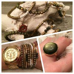 NEW | deze geweldige en trendy Army Green collectie, we zijn ❤️ op deze collectie! Jullie ook? | Vanaf nu te bestellen of op te halen #marblesmusthaves #handmade #sieraden #ringen #armbanden #armcandy #oorbellen #goud #armygreen #newcollectie #beads #loveit