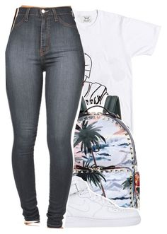 """Untitled #312"" by lowkey-jessel ❤ liked on Polyvore featuring Valentino and NIKE"