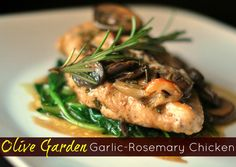 Olive Garden Garlic-Rosemary Chicken   Aunt Bee's Recipes