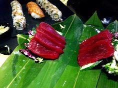 Fantástico sashimi de Atún Rojo! Descubre nuestra Cocina Japonesa Fantastic Bluefin Tuna sashimi! Discover our Japanese Cuisine
