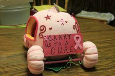 pink pumpkin back  Pink Pumpkins for Breast Cancer Awareness Month      #breastcancerawareness